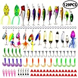 LotFancy 30 PCS Fishing Lures Crankbaits with Treble Hook Topwater Baits, Bass Minnow Popper Walleye Baits, Length from 1.57 to 3.66 Inches (Fishing Lures Set)