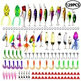 LotFancy Fishing Lures Crankbaits with Treble Hook Topwater Baits, Bass Minnow Popper Walleye Baits, Length from 1.57 to 3.66 Inches