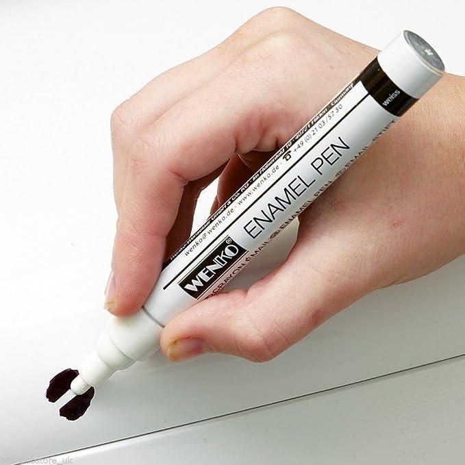 Bolígrafo de reparación de esmalte blanco para baños y cocinas ...