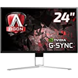 "AOC AGON AG241QG 23.8"" Widescreen TN LED Black/Red Multimedia Monitor G-Sync (2560x1440/1ms/HDMI/DP/USB)"