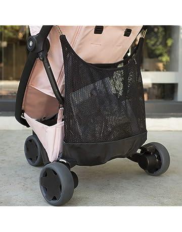 SUNNY BABY Einkaufsnetz HELLGRAU Kinderwagen-Netz Kinderwagennetz Karabiner NEU