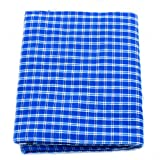 Lungi check Print Pure Cotton 4.5 metre by The Holy Mart