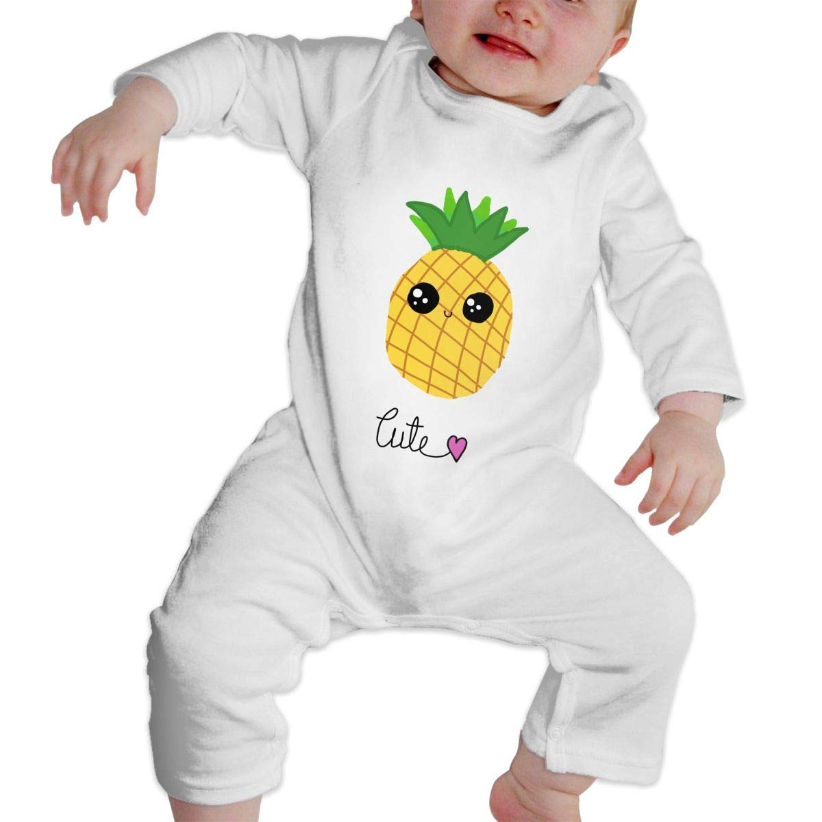 KAYERDELLE Cute Pineapple Long Sleeve Unisex Baby Bodysuits for 6-24 Months Toddler