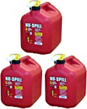 No-Spill NCVBHDGH 1450 5-Gallon Poly Gas Can (CARB Compliant) 3 Pack