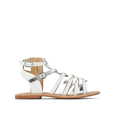 17b545ff094 Image Unavailable. Image not available for. Color  La Redoute Collections  Big Girls Leather Gladiator Sandals ...