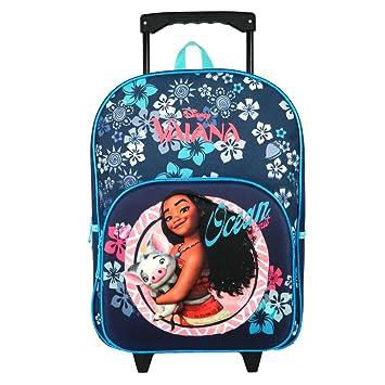 629e7e9514 Sac à dos à roulettes bleu Vaiana Disney: Amazon.fr: Bagages