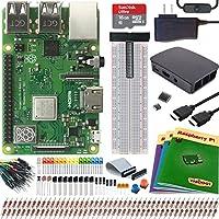 Viaboot Raspberry Pi 3 B+ Ultimate Kit — Official 16B MicroSD Card, Official Rasbperry Pi Foundation Black/Gray Case Edition