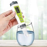 GOTOTOP PH TEMP Meter, 3 in 1 Portable Digital EC PH TEMP Meter Water Quality Tester Purity Test Pen