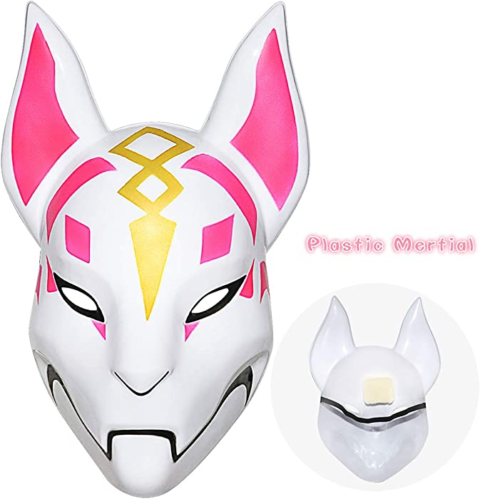 Amazon.com: Fortnite Fox Mask Helmet Halloween mask Fortnite Costume Cosplay mask for Halloween, Party, Christmas(Plastic): Clothing