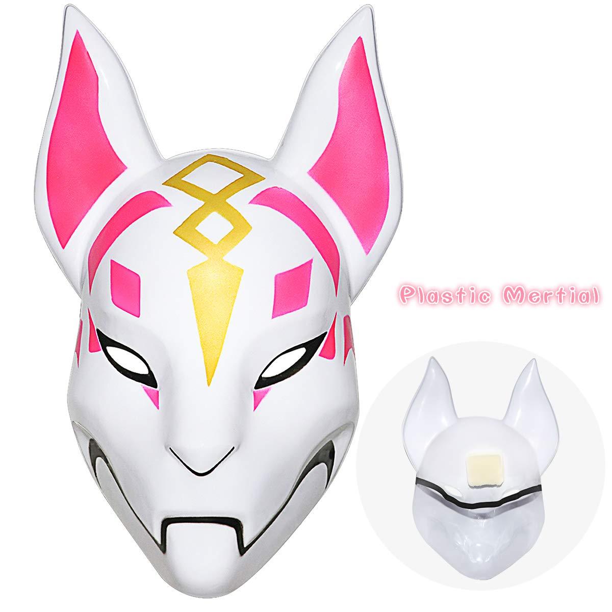 Fortnite Fox Mask Helmet Halloween mask Fortnite Costume Cosplay mask for Halloween, Party, Christmas(Plastic)