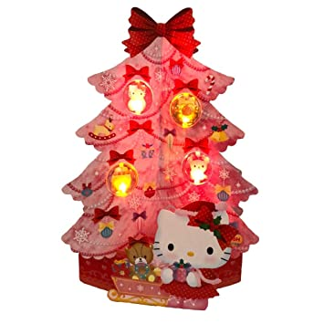 Hello Kitty Christmas Tree.Hello Kitty Pink Christmas Tree Lights And 20 Melodies Pop Up Greeting Card