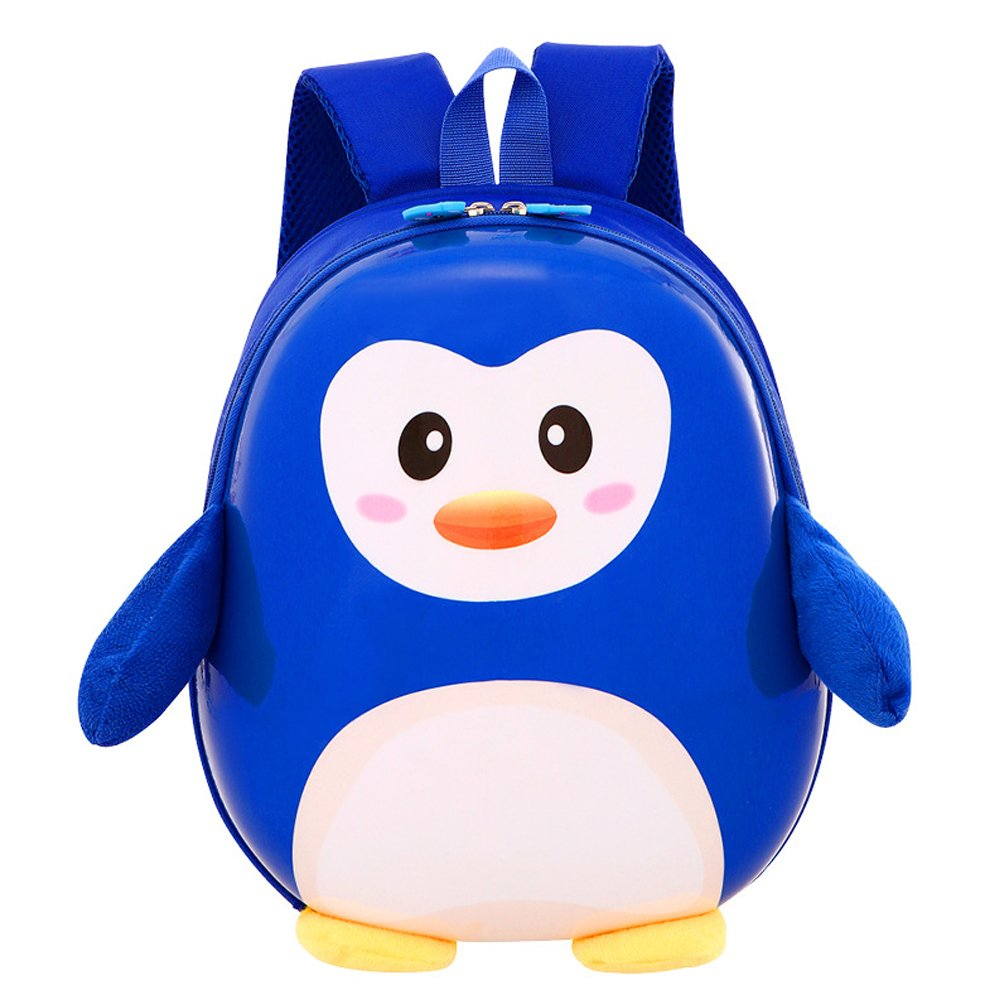 Uniqstore niños Mochila linda del pingüino Mochila Aprendizaje niños escolares Bolsa Niños Niñas Escuela Mochila A02-childbag-4-light-blue