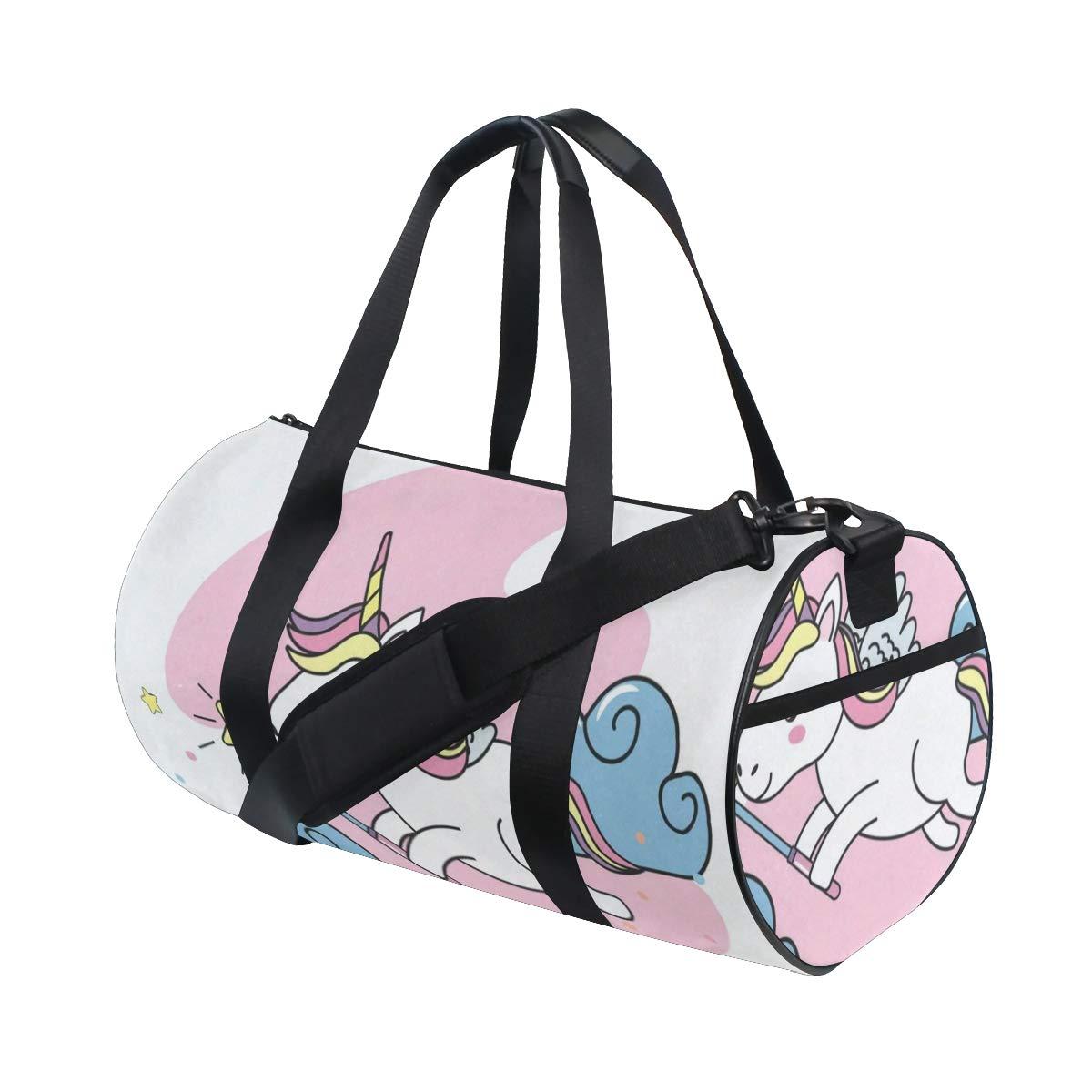 d64b2067395 Amazon.com | Cute Magic Unicorn Duffel Bag Sports Gym Bag Travel Weekender  Bag For Men and Women | Sports Duffels