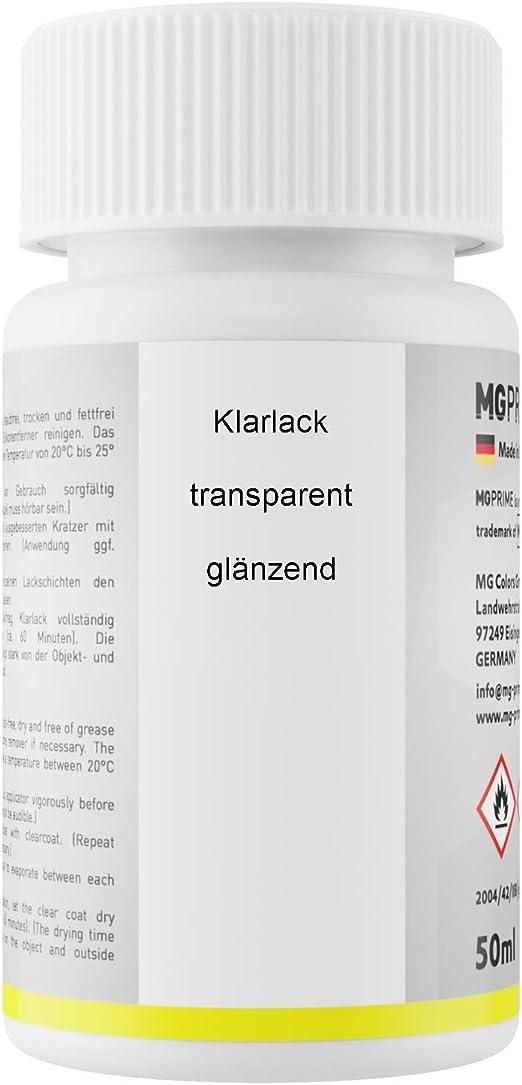 Mg Prime Autolack Lackstift Set Für Mercedes 9650 Calcitweiss Zirrusweiss Basislack Klarlack Je 50ml Auto