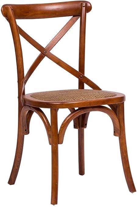 Sedia Thonet in massello di frassino e seduta rattan finitura noce ...