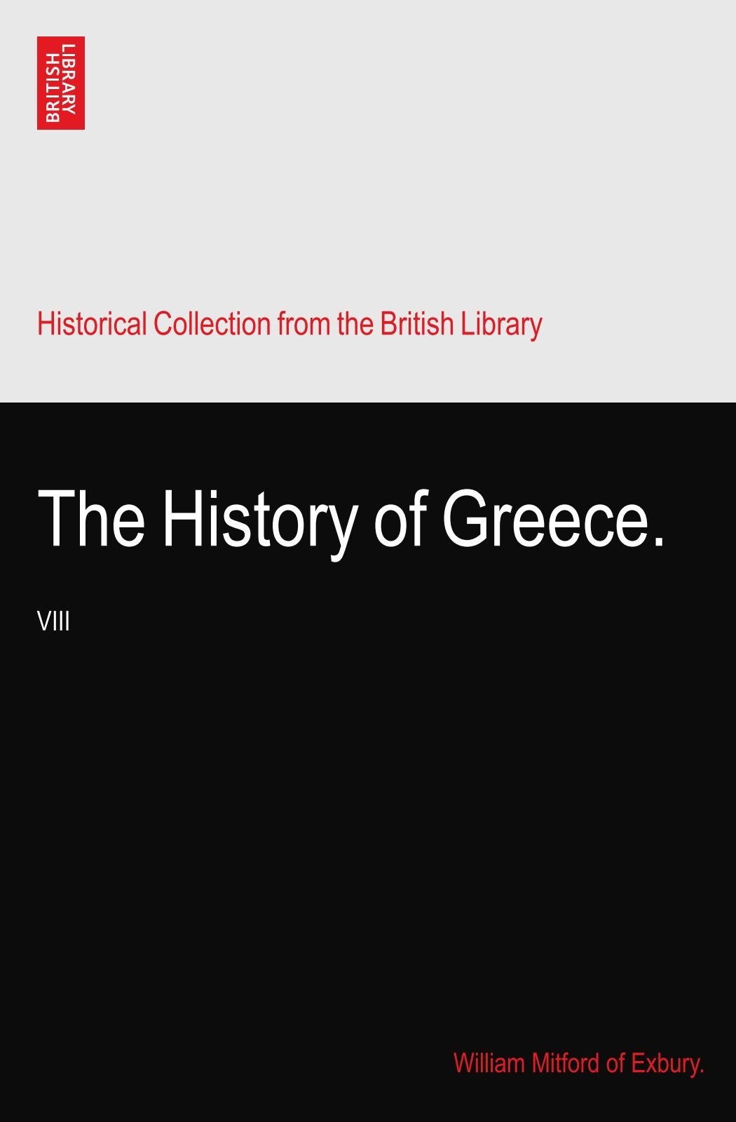 Download The History of Greece.: VIII ebook