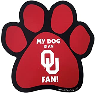 product image for NCAA Oklahoma Sooners Paw Print Car Magnet