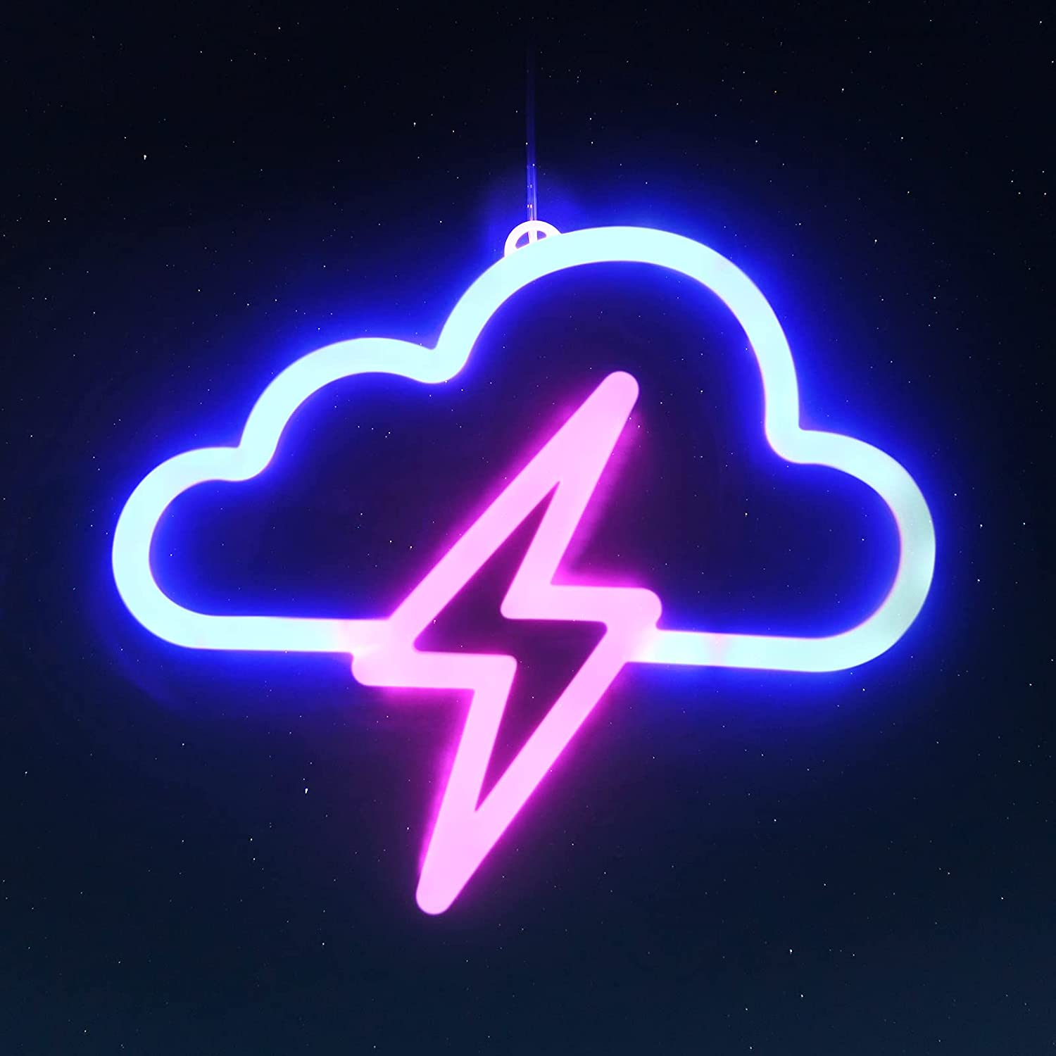 Hzran LED Cloud Lighting Neon Signs, Wall Neon Lights Decor with Hook, LED Neon Signs for Baby Room, Gaming Zone, Party, Warm and Soft Color Night Light for Kids, Teens, Girls, Boys.