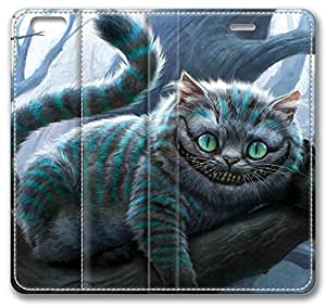 Movie Alice In Wonderland Cheshire Cat Leather Cover for iPhone 6 4.7 inch(Compatible with Verizon,AT&T,Sprint,T-mobile,Unlocked,Internatinal)