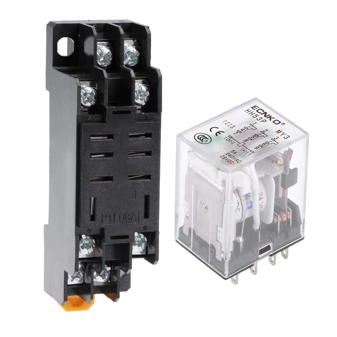 uxcell HH53P DC12V Coil 11 Pin 3PDT Power Relay 5A 240VAC 28VDC