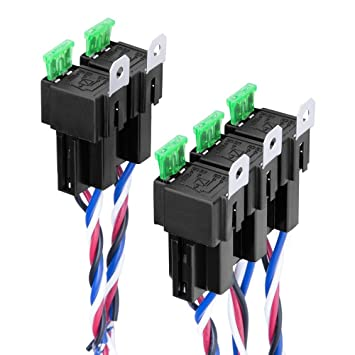 Strange Amazon Com Lanyifang 30 40 Amp Relay Harness Spdt 12V 5 Pin Car Wiring 101 Photwellnesstrialsorg