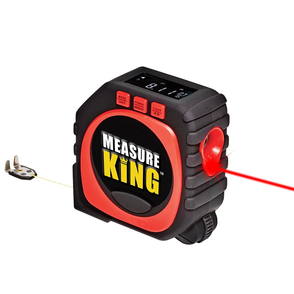 Digital Tape Measure, 2018 Newest 3 in 1 LED Digital Display Laser Measure King All and Any Surfaces - CHELEX
