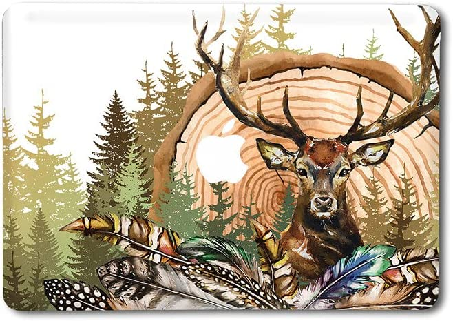 Verniks Skin Compatible with MacBook Pro Retina 13 15 2020 Nature Animal A2337 A2338 Cute Deer Air 11 12 Sticker Decal M1 13 inch Apple 2016-2021 Feathers Mac Pro 16 in Green Woods 2019 2018 sum24