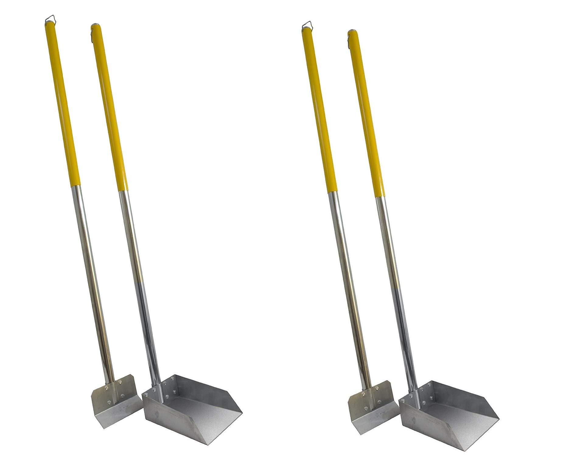 Flexrake Standard Poop Pet Scoop/Spade with 3-Feet Aluminum Handle (Pack of 2) by Flexrake