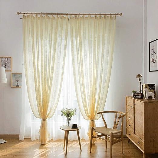 Cortinas de exterior Cortinas de lino de algodón, cortinas ...