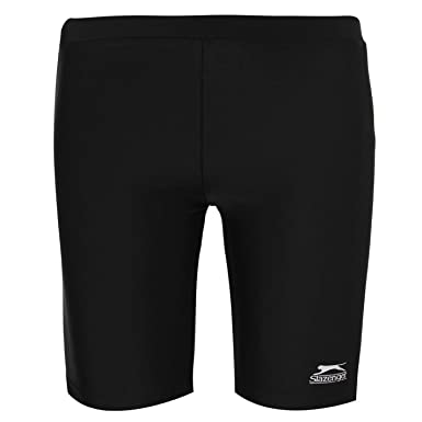 ccd2290daa Slazenger Kids Swimming Jammers Junior Boys Long Shorts Elasticated Waist  Black 7-8 (SB