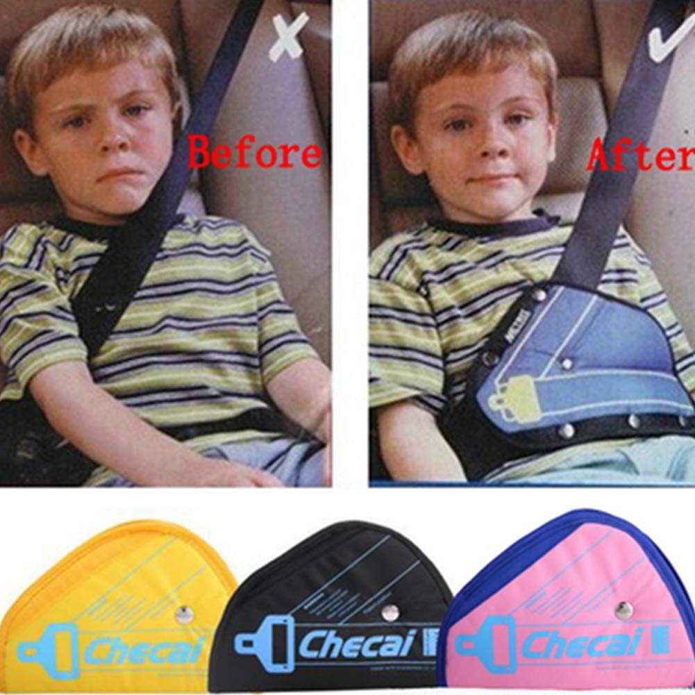 SDGDFXCHN Ajustador del arn/és de Seguridad para ni/ños del autom/óvil Accesorios para el autom/óvil Soporte del cintur/ón de Seguridad Tri/ángulo Protectores de Asiento de autom/óvil