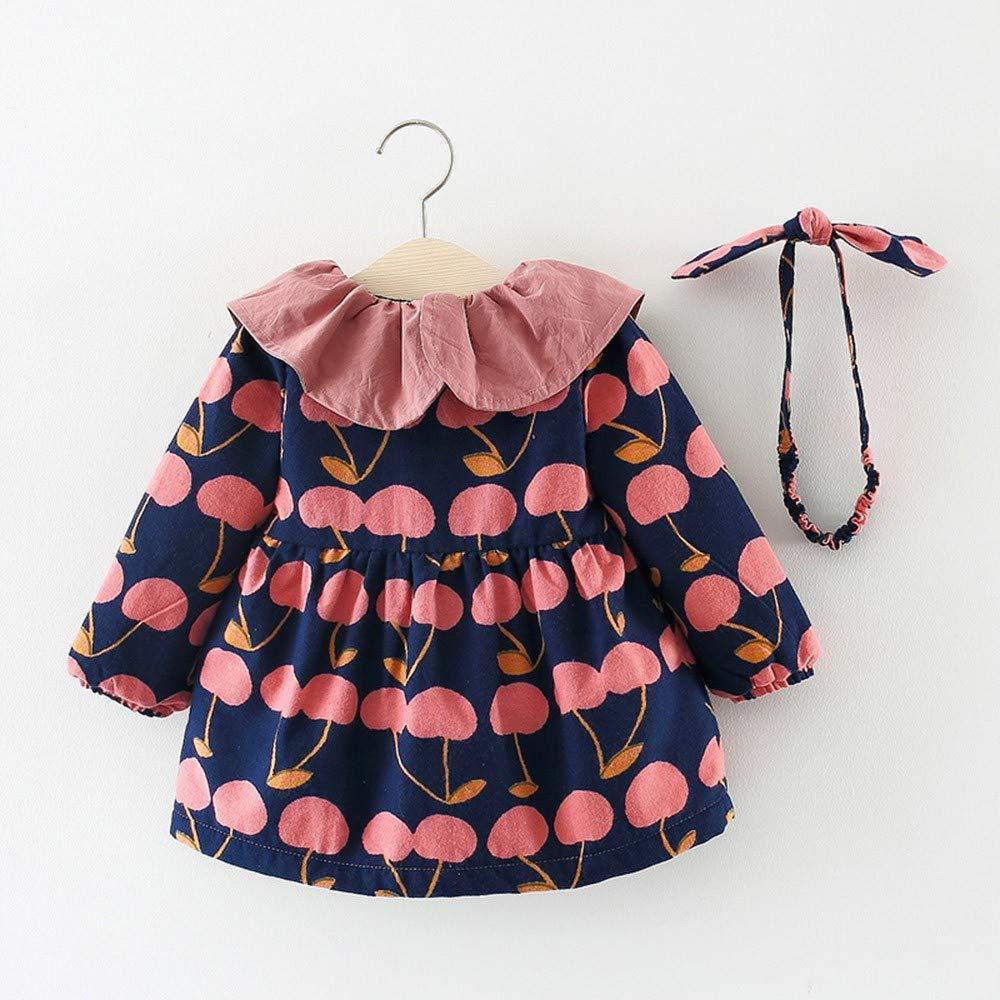 Amazon.com: NUWFOR Toddler Baby Girls Long Sleeves Broken Flower ...