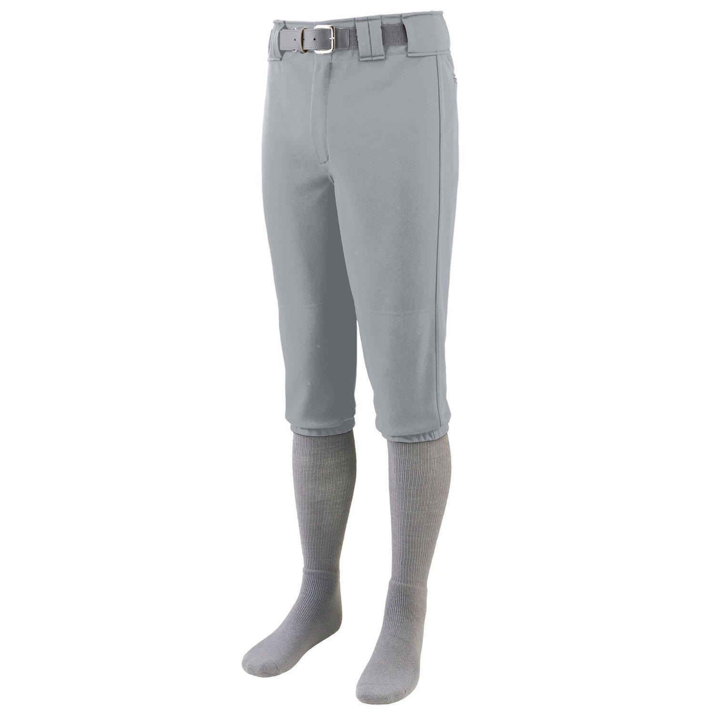 Augusta Sportswear Men's Series Knee Length Baseball Pant - Silver Grey 1452A L