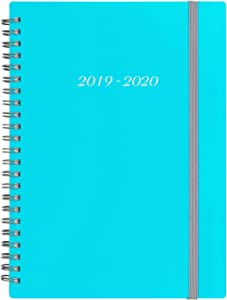 "2019-2020 Academic Planner - Weekly & Monthly Planner with Tabs, Elastic Closure and Thick Paper, Back Pocket with 21 Notes Pages, 6.25"" x 8.3"""