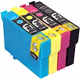 4 Epson T1295 Compatible Printer Inks for Epson Stylus SX230, SX235W, SX420W, SX425W, SX435W, SX445W, SX525WD, SX620FW and Epson Stylus Office B42WD, BX305F, BX305FW, BX305FW Plus, BX320FW, BX525WD, BX535WD, BX625FWD, BX635FWD, BX925FWD, BX935FWD, Printers, Ink Cartridges 1x T1291, 1x T1292, 1x T1293, 1x T1294 These Cartridges Holds 4x More Ink Than Other Compatibles High Capacity Ink Cartridges