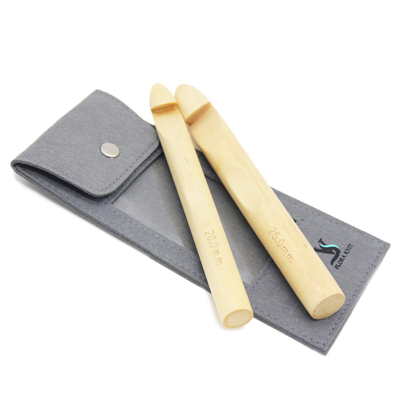con lana ganchillo hacer alfombra manta y manualidades 1/pieza /Ovillo para tejer floraknit gancho de madera para Super Chunky/