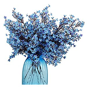 JAKY Global Babys Breath Fabric Cloth Artificial Flowers 6 Bundle European Fake Silk Plants Decor Wedding Party Decoration Bouquets Real Touch DIY Home Garden 55