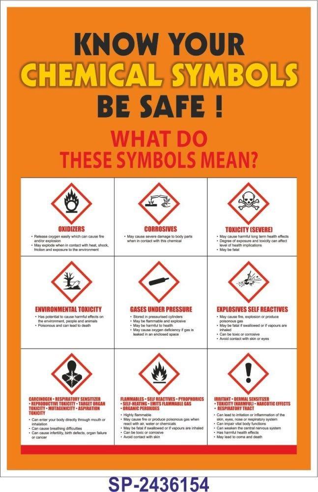 Signageshop Sp 2436154 Know Your Chemical Symbols Be Safe Poster