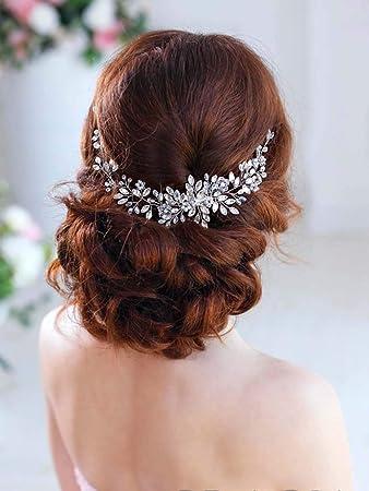 Kristall Braut Haar Reben Diademe Strass Hochzeit Stirnbänder für Bräute
