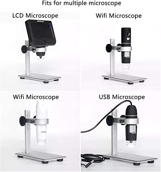 Durable Adjustable Microscope Stand Microscope Holder Microscope Support Universal Professional Use for Factory Laboratory General Purpose