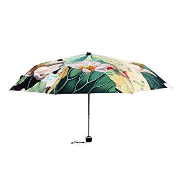 Resistente al Viento diseño de estilo chino plegable paraguas, compacto Golf paraguas, sombrilla paraguas