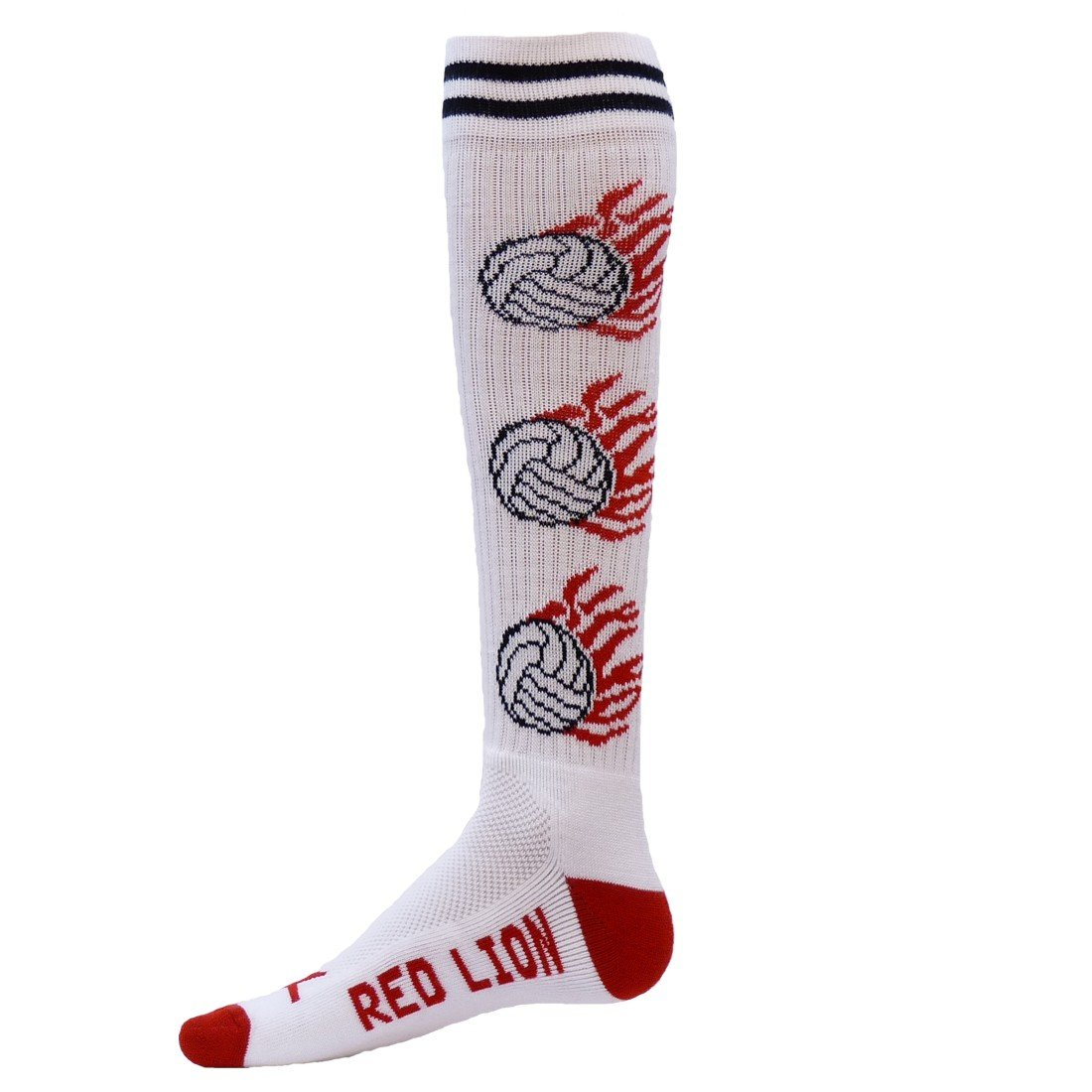 Red Lion White Heat Volleyball Socks