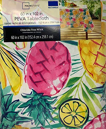 (Mainstays Vinyl Tablecloth 60x102 Pineapple)