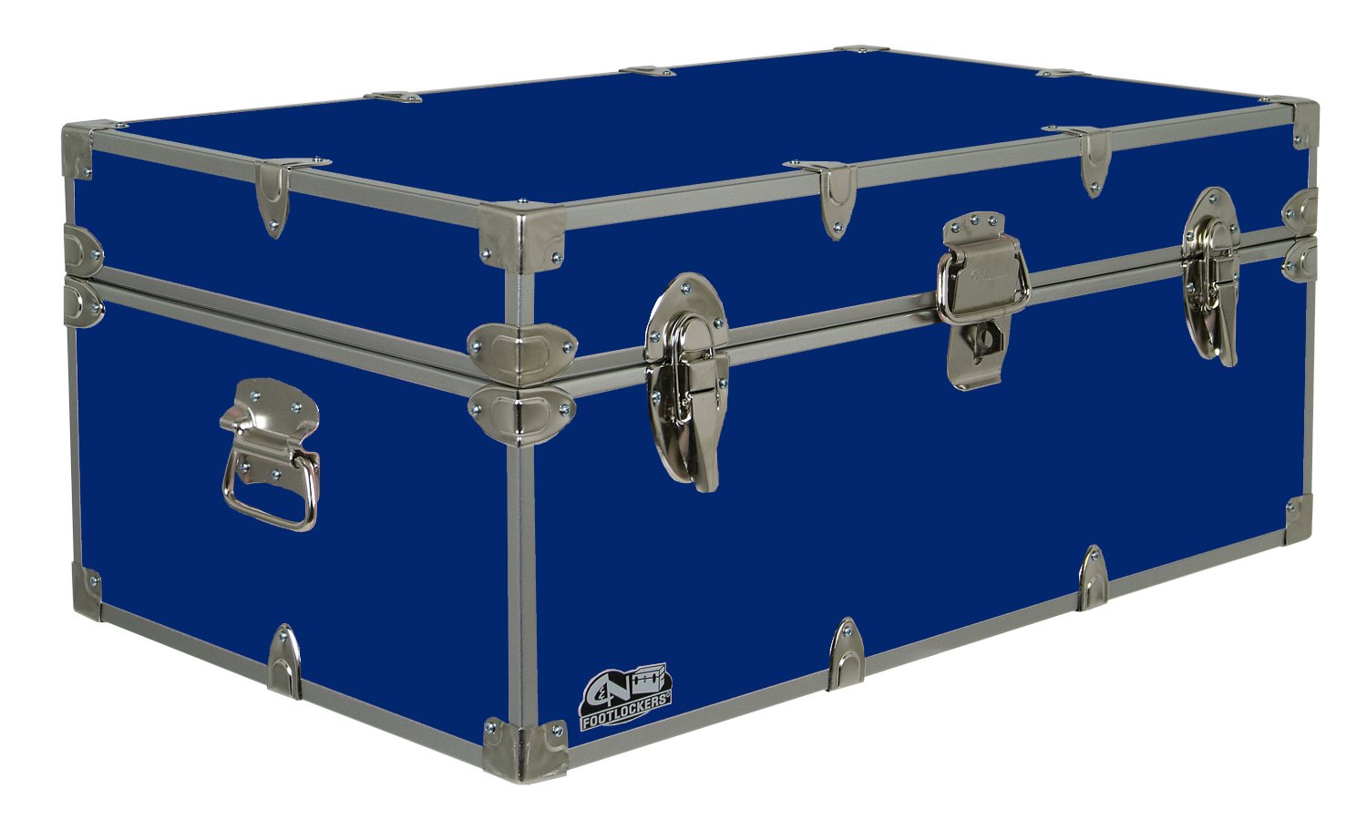 Happy Camper Footlocker Camp Trunk – #CN-1104-v3 – Available in Vibrant Colors – 32 x 18 x 13.5 Inches
