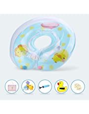APig flotador de doble airbags, flotador engrosada ajustable de cuello para bebes de 0-