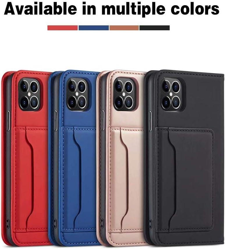 iLovecover Tenphone Etui Coque pour iPhone 12 Mini 5.4,Housse en Cuir Etui de Protection Magn/étique /Étui T/él/éphone Premium Case pour Lisse Marron
