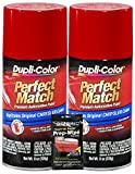 Dupli-Color Flame Red Perfect Match Automotive Paint for Chrysler Vehicles - 8 oz, Bundled with Prep Wipe (3 Items)