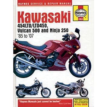 Amazon.com: Haynes – Manual de reparación en450/500 2053 ...