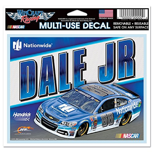 Dale Earnhardt Number Nascar (WinCraft Dale Earnhardt Jr. Official NASCAR 5 inch x 6 inch MultiUse Car Decal by 595621)