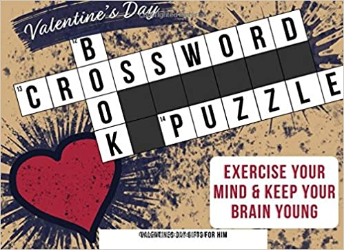 Valentines Day Gifts For Him Crossword Puzzle Book Valentines